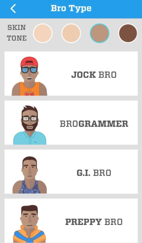 """Types of """"bro"""" available"""