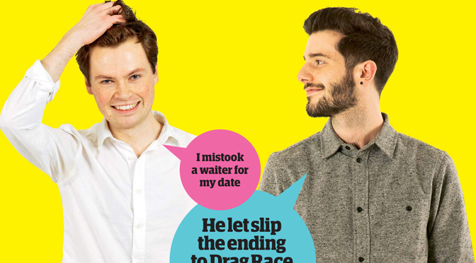 The Guyliner   The definitive  yet disaster laden  gay dating blog      Guardian Blind Date review  P  draic and Josh